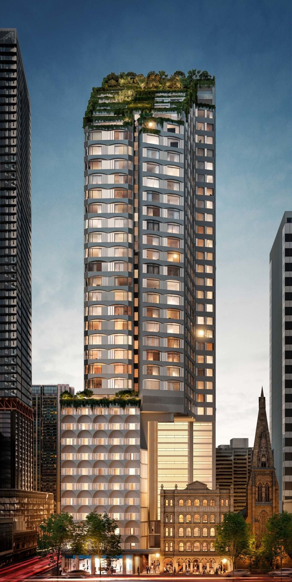 High-end apartments with luxury five-star hotel