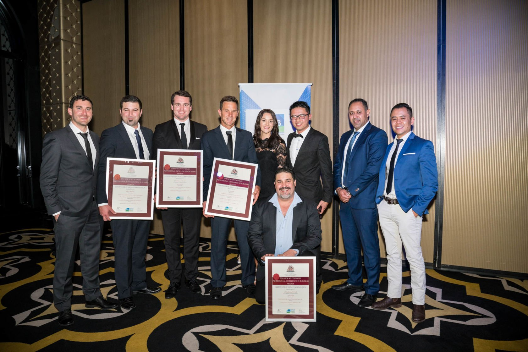 New South Wales Teams for High Commendations for Residential and Commercial Construction Categories $100M+ for UoW Student Villages and Global Switch Data Centre