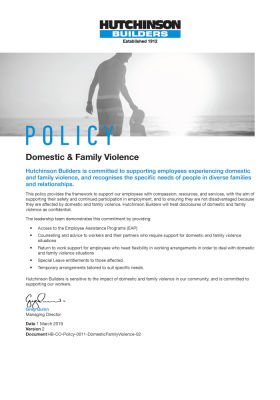 Domestic & Family Violence Policy
