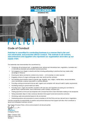 Code of Conduct Policy
